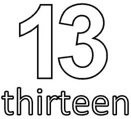 Number 13 Coloring Page free coloring pages of number thirteen