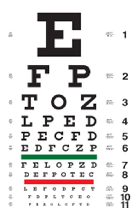 printable eye chart with instructions snellen eye chart