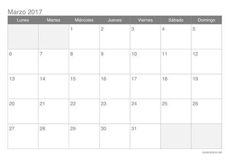 calendario abril 2017 para imprimir calendario marzo 2017 para imprimir icalendario net