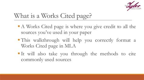 piper high school library mla citation guide type of source works