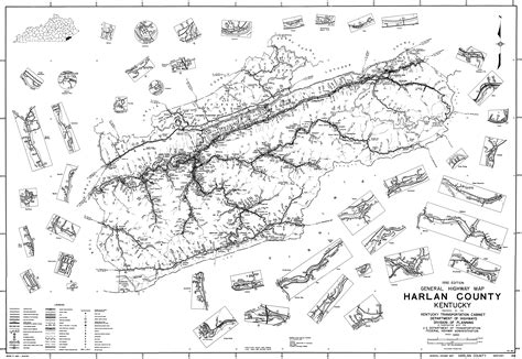 kentucky map harlan county state and county maps of kentucky