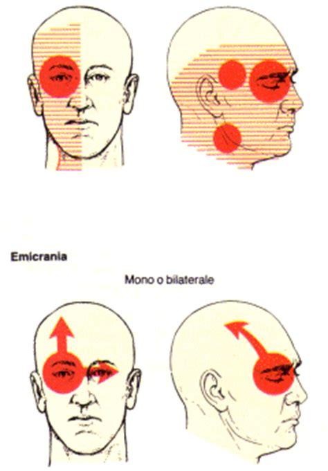 mal di testa sopra la testa il paziente con dolore di testa
