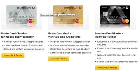 kredit karten kostenlos commerzbank kreditkarten im vergleich infos zum