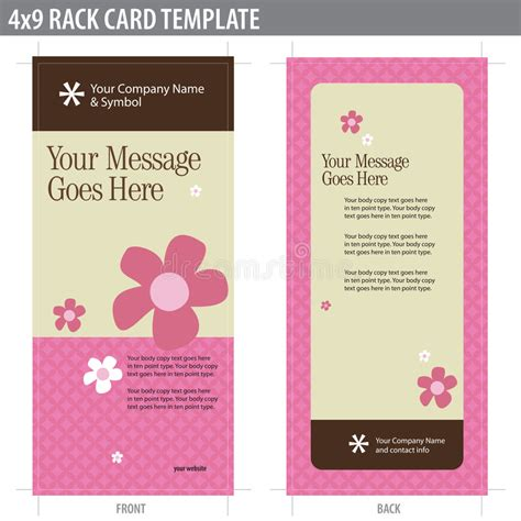Free 4x9 Rack Card Template by 4x9 Rack Card Brochure Template Stock Photos Image 8937043