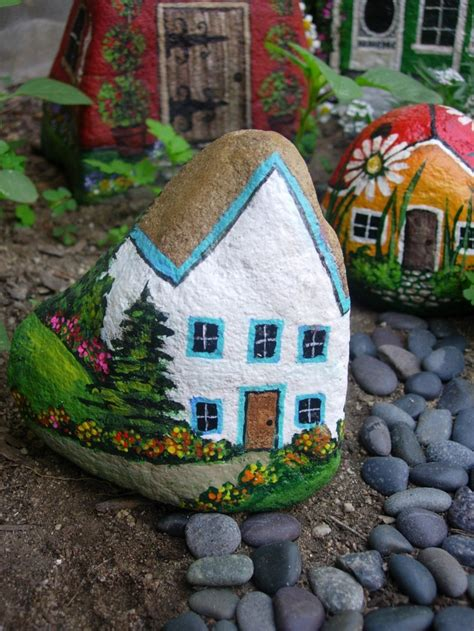 painted rock houses rock crafts napoleonia