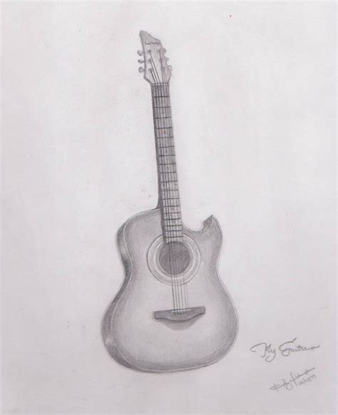 my doodle drawings my guitar drawing by radexopoblete on deviantart