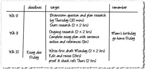 university essay plan template template for annotated