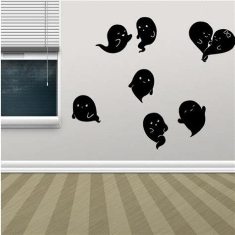 Wall Sticker Removable 3d Horror Ghost Series 4 kst 8 pvc wall stickers ghost living room