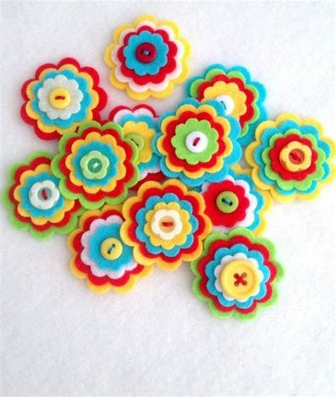Make itself felt flowers ? creative craft ideas Felt   Interior Design Ideas   AVSO.ORG