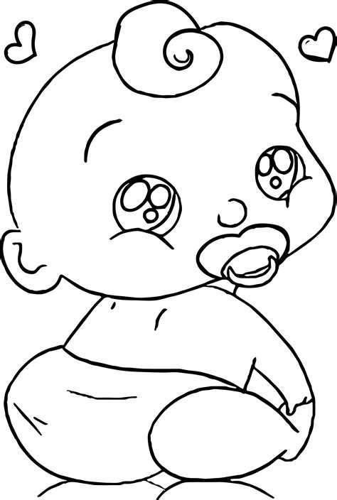 baby coloring pages baby boy faces coloring page wecoloringpage
