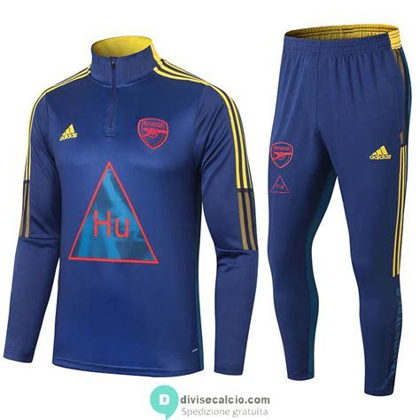 arsenal  humanrace formazione felpa blue pantaloni