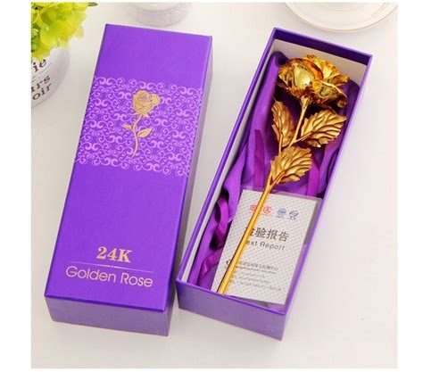 Best Gift For Girlfriend Golden Rose Wedding Decoration