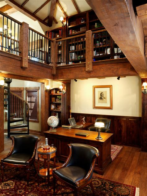 rustic home office timber frame home rustic home office