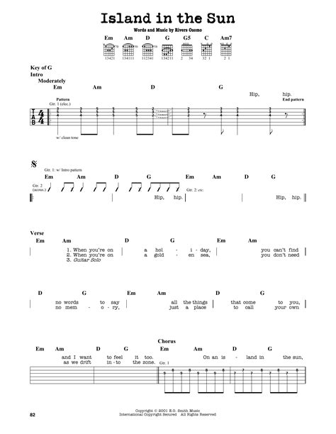 Island In The Sun Chords Guitar