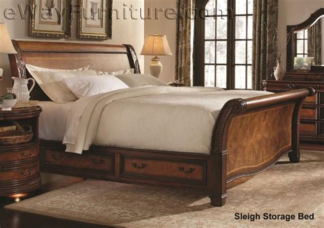 aspenhome napa sleigh storage bedroom set