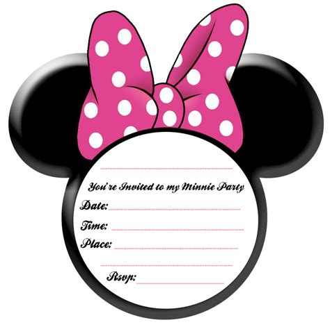minnie mouse invitations templates free pics for gt minnie mouse blank invitation template