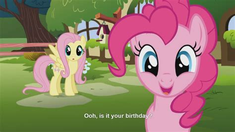 mlp fluttershy happy birthday equestria daily mlp stuff fully animated fluttershy