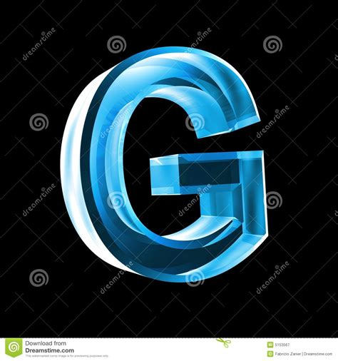 Letter G In Blue Glass 3D Royalty Free Stock Photography ... G Design Letter