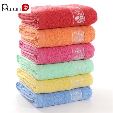 home design brand towels hot sale 100 cotton bath towel 70x140cm thick dobby embroidery red towel rectangle big beach