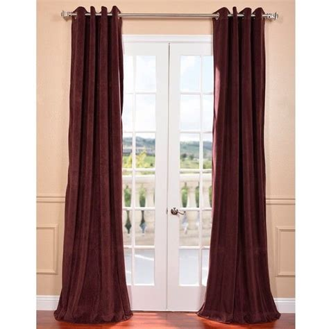 Burgundy Blackout Curtains Exclusive Fabrics Eff Burgundy Grommet Velvet Blackout Curtain Panel 59 Liked On Polyvore