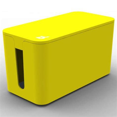 cache fil bureau bluelounge cablebox mini jaune boite rangement ca achat
