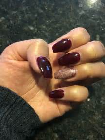 wine colored nails burgundy coffin nails nails coffin nails