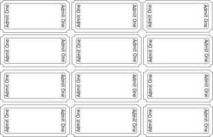 ticket template printable blank printable ticket templates clipart best