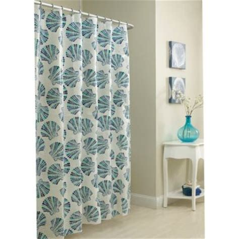 shells shower curtain buy natural shells shower curtain from bed bath beyond
