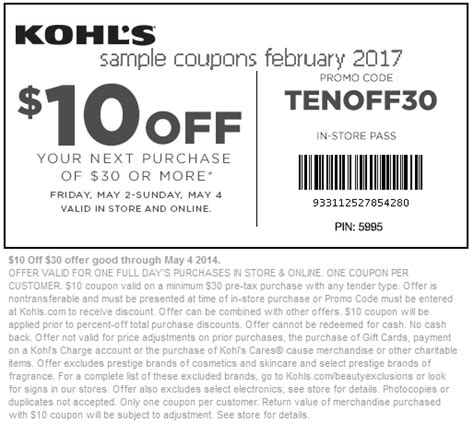 email format of kohls printable coupons 2017 kohls coupons