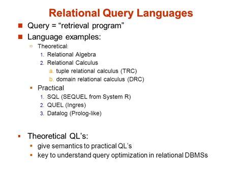 relational query languages padakuucom