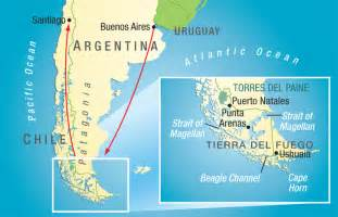 physical map of south america patagonia