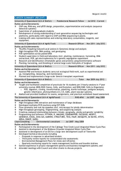 Curriculum Vitae Sle Postdoctoral Fellowship Margaret Jewell Cv