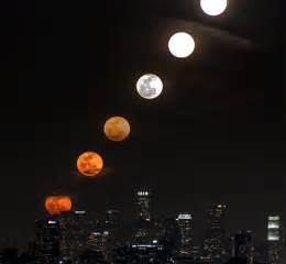 Moon rise over los angeles as a time slice time lapse and animated