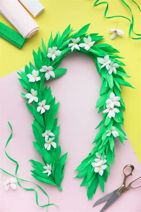 How To Make Paper Leis - crepe paper diy a giveaway