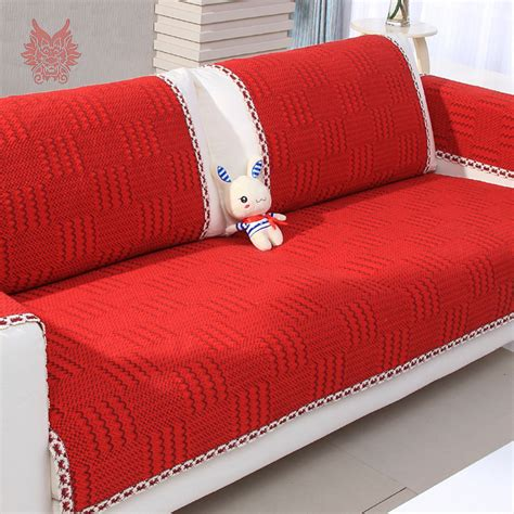 sofa cloth cover aliexpress com buy modern style red cotton sofa cover