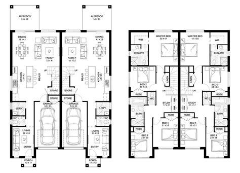 duplex house plans for narrow blocks