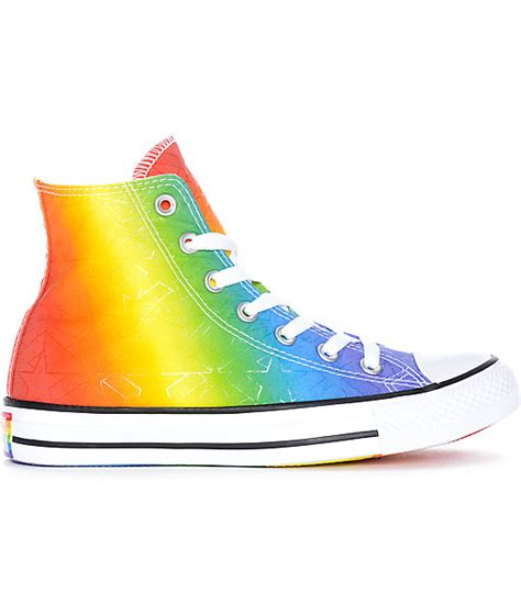 multi colored converse converse ctas hi pride pack white multi colored shoes
