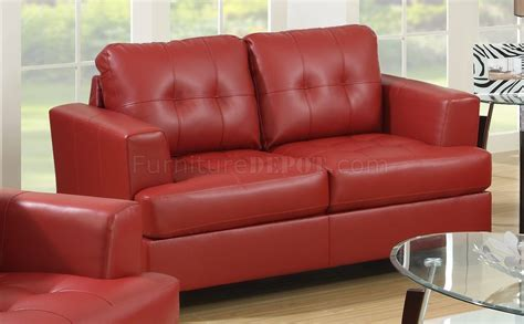 red bonded leather sofa g670 sofa loveseat in red bonded leather by glory furniture