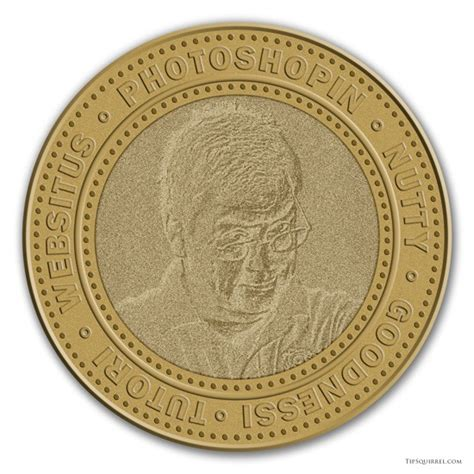 emboss yourself onto this free coin photoshop template