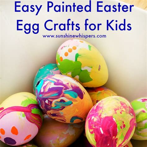 easy easter craft painting eggs easy painted easter egg crafts for