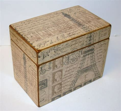 Handmade Recipe Box - recipe box 4x6 4 x 6 custom you design it handmade