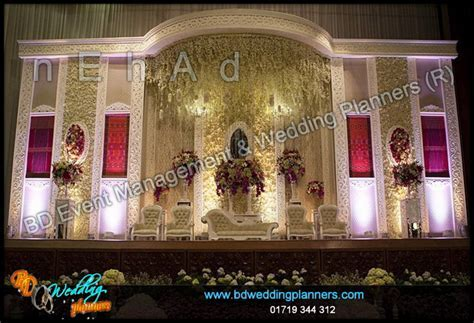 wedding stage decoration at Radisson Hotel   BD Event