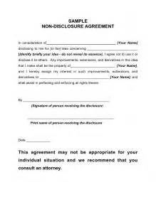 Basic Non Disclosure Agreement Template Simple Non Disclosure Agreement Non Disclosure Agreement