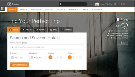 best template html 40 best travel website html templates templatemag