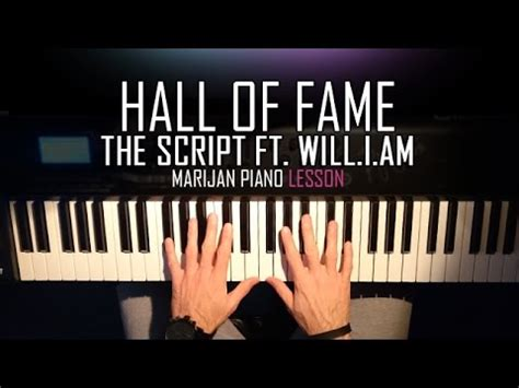 tutorial piano hall of fame how to play the script ft will i am hall of fame