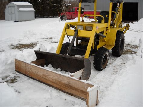 home made 8 ft snow plow tractor talk forum yesterday