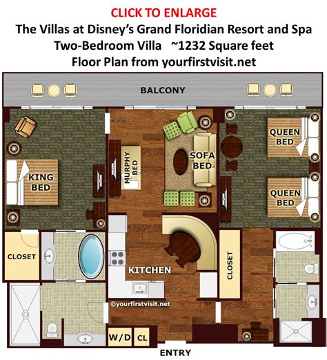 Grand Floridian 2 Bedroom Villa Floor Plan | review the villas at disney s grand floridian resort