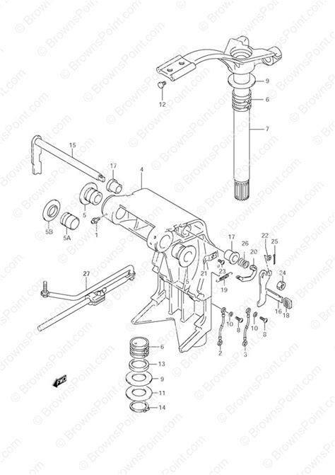 Fig. 36 - Swivel Bracket - Suzuki DF 70 Parts Listings