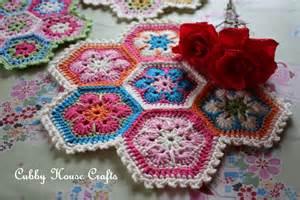 Crochet African Flower - cubby house crafts crochet african flower hexagon
