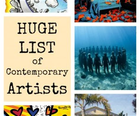 list of contemporary artists tips archives is basic an elementary